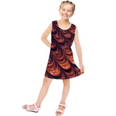 Brown Fractal Mathematics Frax Kids  Tunic Dress