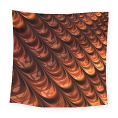 Brown Fractal Mathematics Frax Square Tapestry (large)