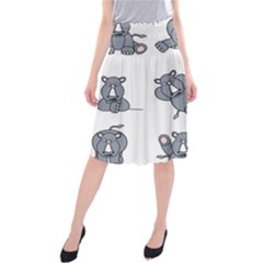 Rhinoceros Animal Rhino Midi Beach Skirt