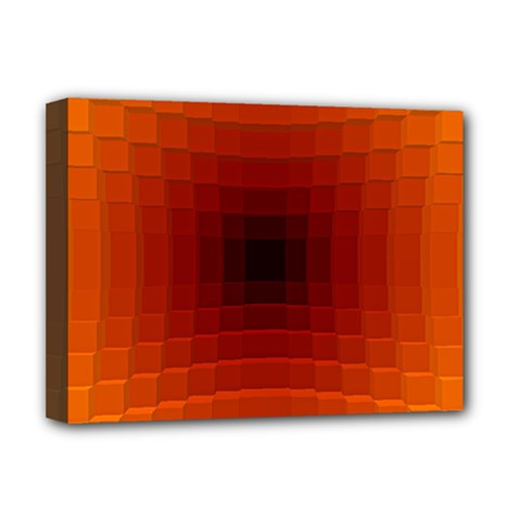 Orange Background Wallpaper Texture Lines Deluxe Canvas 16  X 12