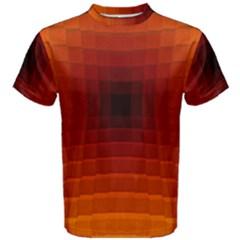 Orange Background Wallpaper Texture Lines Men s Cotton Tee