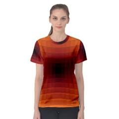 Orange Background Wallpaper Texture Lines Women s Sport Mesh Tee