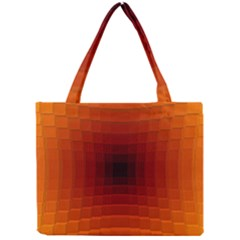 Orange Background Wallpaper Texture Lines Mini Tote Bag