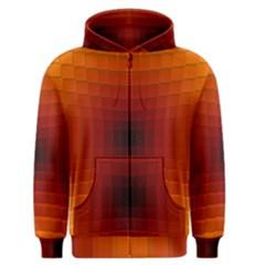 Orange Background Wallpaper Texture Lines Men s Zipper Hoodie