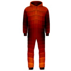 Orange Background Wallpaper Texture Lines Hooded Jumpsuit (men)