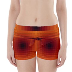 Orange Background Wallpaper Texture Lines Boyleg Bikini Wrap Bottoms