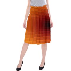 Orange Background Wallpaper Texture Lines Midi Beach Skirt