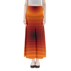 Orange Background Wallpaper Texture Lines Maxi Skirts