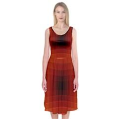 Orange Background Wallpaper Texture Lines Midi Sleeveless Dress