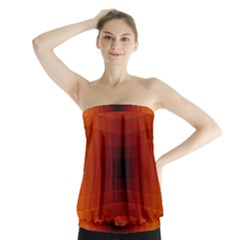 Orange Background Wallpaper Texture Lines Strapless Top