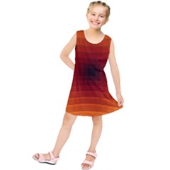 Orange Background Wallpaper Texture Lines Kids  Tunic Dress