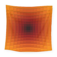 Orange Background Wallpaper Texture Lines Square Tapestry (large)