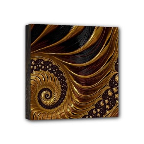 Fractal Spiral Endless Mathematics Mini Canvas 4  X 4