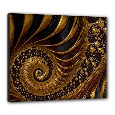 Fractal Spiral Endless Mathematics Canvas 24  X 20