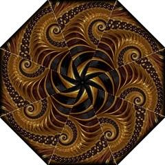Fractal Spiral Endless Mathematics Folding Umbrellas
