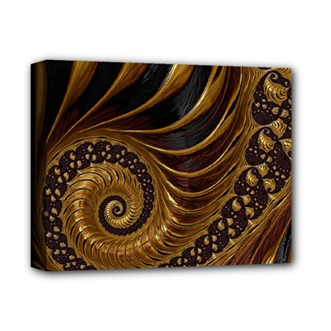 Fractal Spiral Endless Mathematics Deluxe Canvas 14  X 11