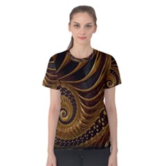 Fractal Spiral Endless Mathematics Women s Cotton Tee