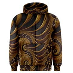Fractal Spiral Endless Mathematics Men s Zipper Hoodie