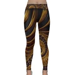 Fractal Spiral Endless Mathematics Classic Yoga Leggings