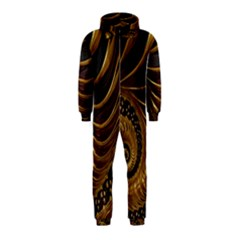 Fractal Spiral Endless Mathematics Hooded Jumpsuit (kids)