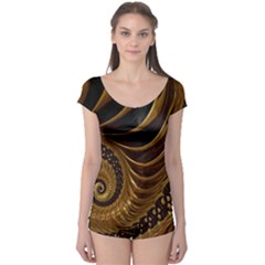 Fractal Spiral Endless Mathematics Boyleg Leotard