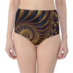 Fractal Spiral Endless Mathematics High Waist Bikini Bottoms