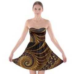 Fractal Spiral Endless Mathematics Strapless Bra Top Dress