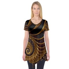 Fractal Spiral Endless Mathematics Short Sleeve Tunic