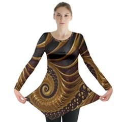 Fractal Spiral Endless Mathematics Long Sleeve Tunic