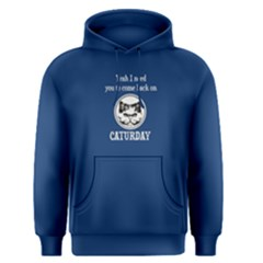 Blue come back on caturday  Men s Pullover Hoodie