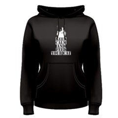 Black Keep Calm And Feed Your Cat Women s Pullover Hoodie