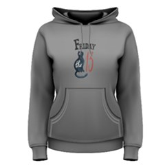 grey black friday cat  Women s Pullover Hoodie