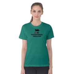 Green I Love My Occupational Therapist  Women s Cotton Tee