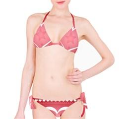Postcard Banner Heart Holiday Love Bikini Set