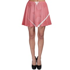 Postcard Banner Heart Holiday Love Skater Skirt