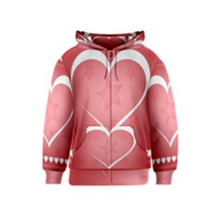 Postcard Banner Heart Holiday Love Kids  Zipper Hoodie
