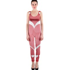 Postcard Banner Heart Holiday Love Onepiece Catsuit