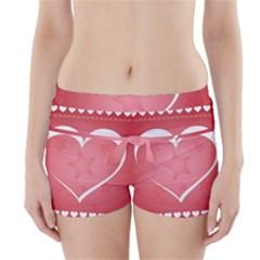 Postcard Banner Heart Holiday Love Boyleg Bikini Wrap Bottoms