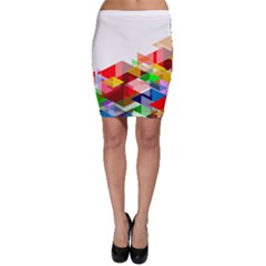 Graphics Cover Gradient Elements Bodycon Skirt