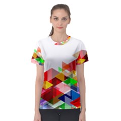Graphics Cover Gradient Elements Women s Sport Mesh Tee