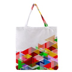 Graphics Cover Gradient Elements Grocery Tote Bag
