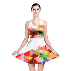 Graphics Cover Gradient Elements Reversible Skater Dress