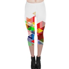 Graphics Cover Gradient Elements Capri Leggings
