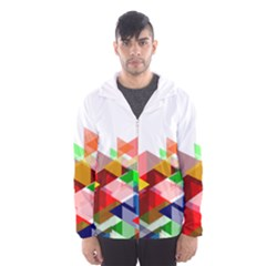 Graphics Cover Gradient Elements Hooded Wind Breaker (men)