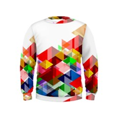 Graphics Cover Gradient Elements Kids  Sweatshirt