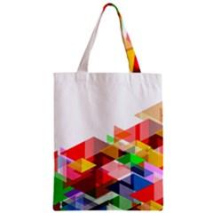 Graphics Cover Gradient Elements Zipper Classic Tote Bag