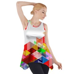 Graphics Cover Gradient Elements Side Drop Tank Tunic