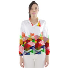 Graphics Cover Gradient Elements Wind Breaker (women)