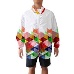 Graphics Cover Gradient Elements Wind Breaker (kids)