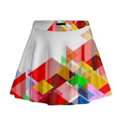Graphics Cover Gradient Elements Mini Flare Skirt